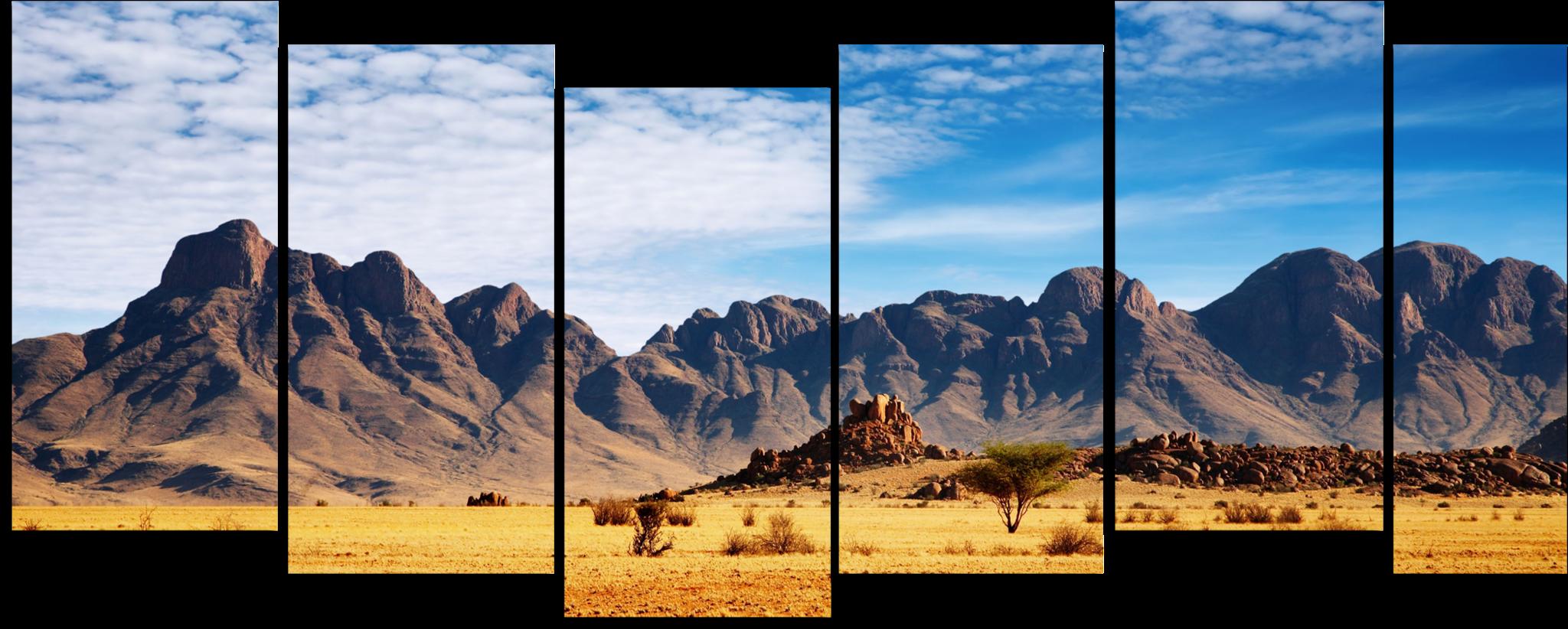 """Природа Модульная картина """"Горы в пустыне"""" М844.png"""