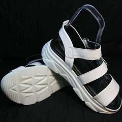 Спортивные сандалии женские кожаные Evromoda 3078-107 Sport White