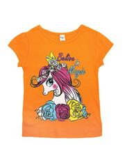 D002-27 футболка для девочек, оранжевая