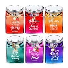 LADECOR Свеча ароматизированная в стекле, с декором, 6 видов.