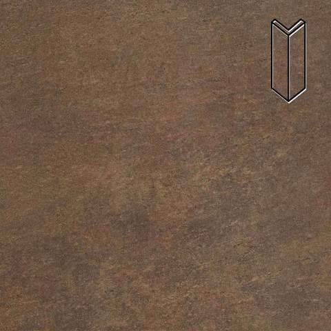 Stroeher - Keraplatte Asar 640 maro 157х60х60x11 артикул 9000 - Угловой клинкерный подступенок