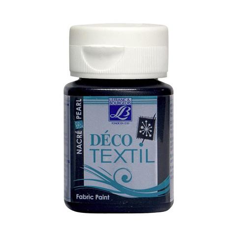 Краска по ткани Lefranc&Bourgeois DECO TEXTIL 50 мл 746, перламутровый голубой минерал