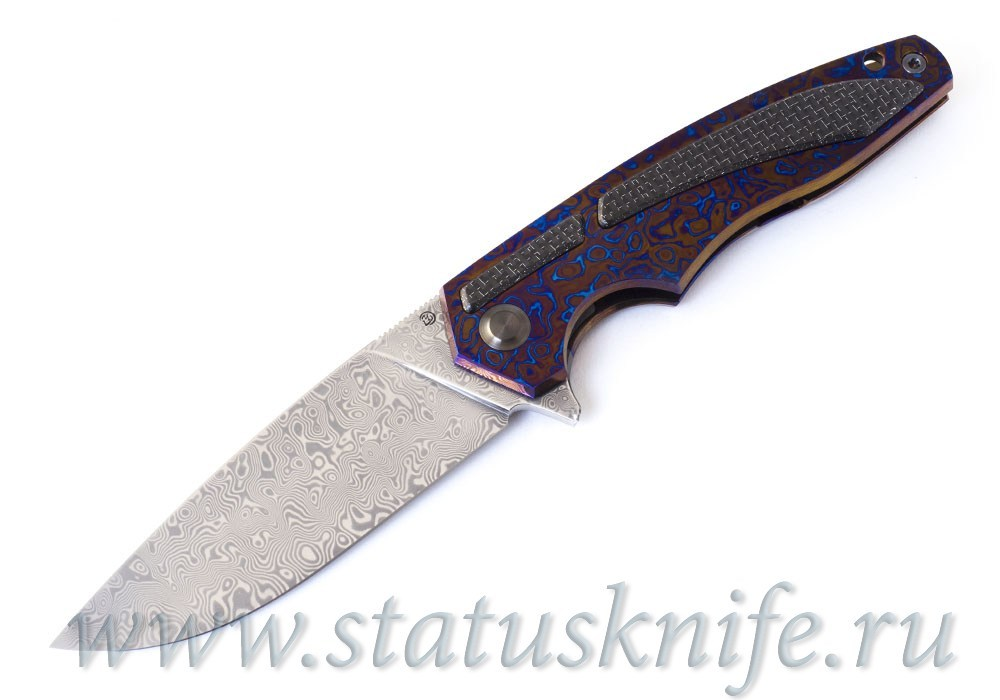 Нож Чебуркова Касатка Whale Custom тимаскус дамаск
