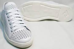 Модные кеды женские туфли на плоской подошве летние ZiKo KPP2 Wite.
