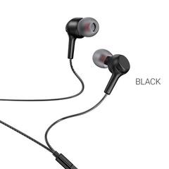 Qulaqcıq \ Наушники HOCO M78, El Placer, микрофон, регулятор громкости, кнопка ответа, кабель 1.2м, цвет: чёрный