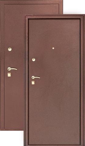 Дверь входная Сибирь S 3/1, 2 замка, 1,2 мм  металл, (медь+медь)