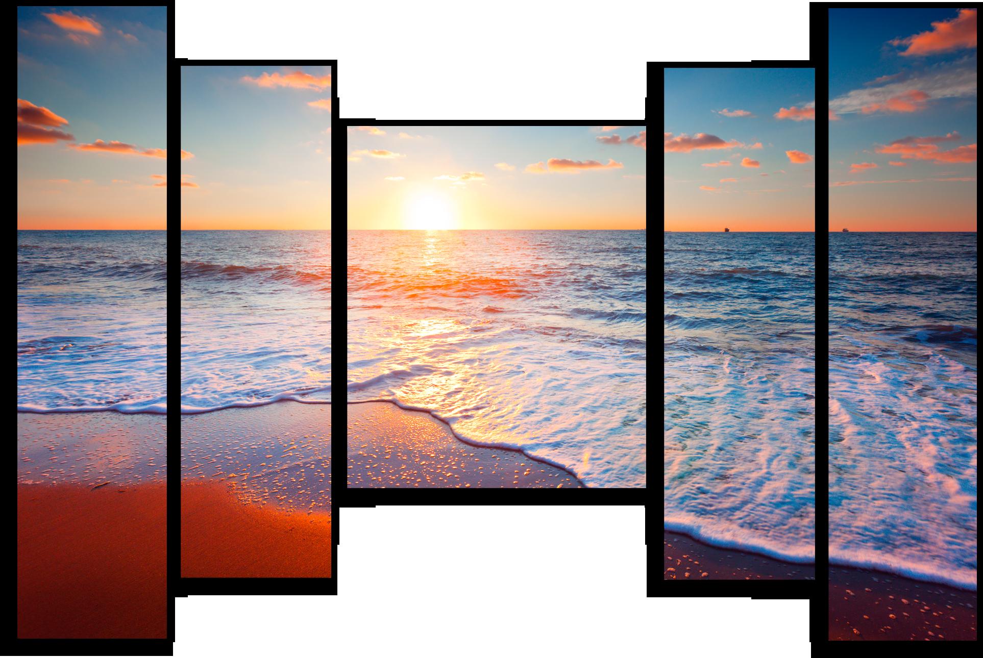 """Природа Модульная картина """"Морской рассвет"""" М250.png"""