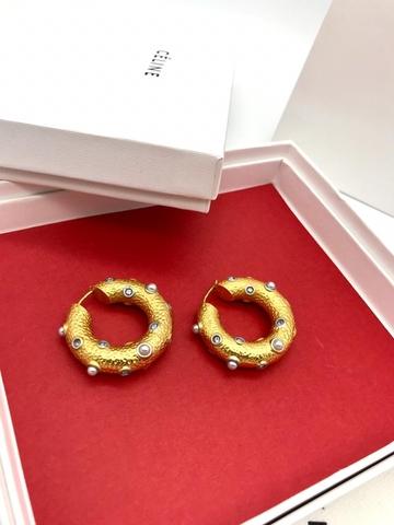 201211 - Серьги-кольца с белыми горошинами жемчужинами lux