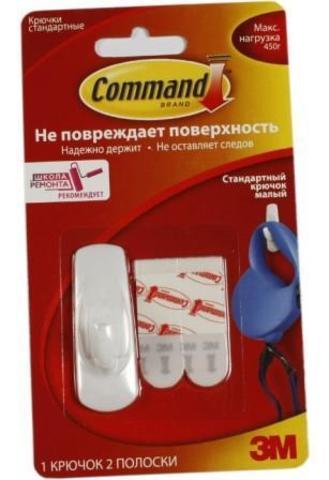 Command 17002NEW  Легкоуд. Крючок мал., 1шт