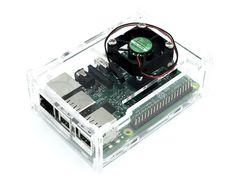 Корпус Raspberry Pi под кулер, прозрачный