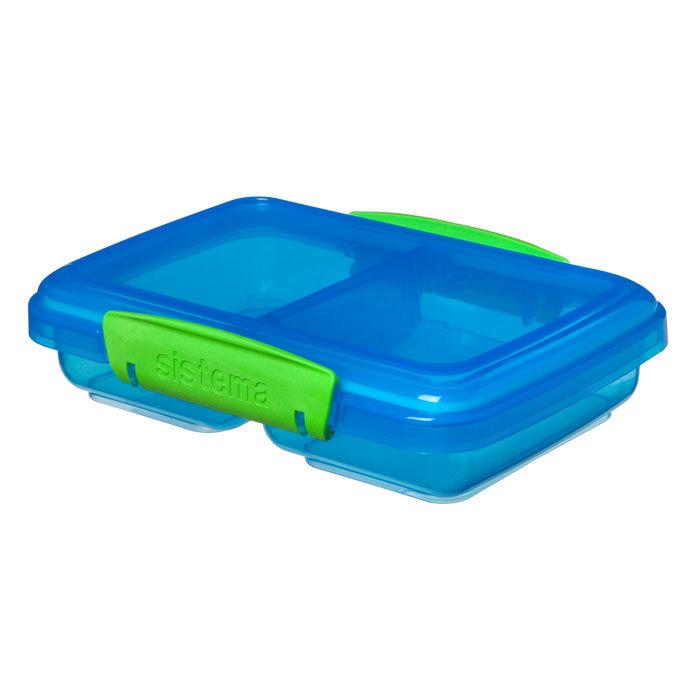 """Контейнер Sistema """"Lunch"""", двойной, 350 мл, цвет Голубой"""