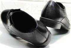 Черные кожаные туфли под брюки Ikoc 3416-1 Black Leather.
