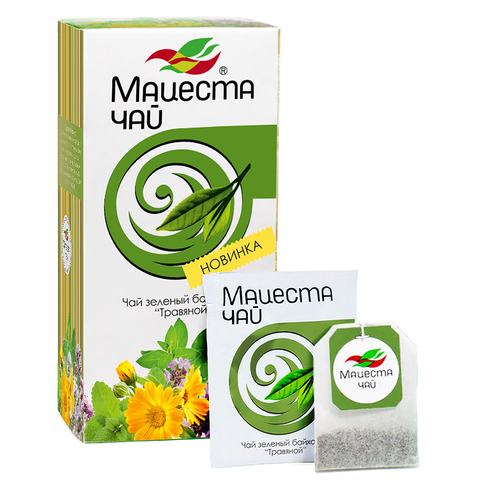 Чай Мацеста зеленый травяной, 20 пак.*2 гр. (Мацестинская ЧФ)