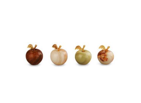 Яблоко из оникса малое (4,5х3,5х3,5 см). Интернет магазин чая