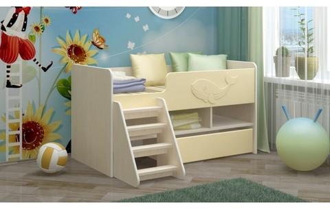 Детская кровать Юниор-3 МДФ ваниль, 70х140