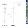 Душевая термостатическая система со смесителем и изливом BLAUTHERM 945602RP300 - фото №2