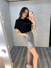 черная футболка женская оверсайз интернет магазин