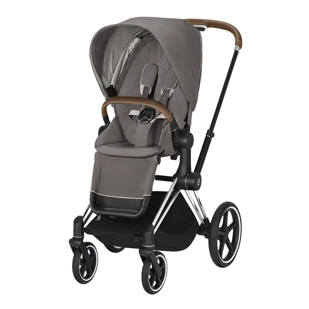 Прогулочная коляска Cybex Priam III 2020 Прогулочная коляска Cybex Priam III Soho Grey Chrome cybex-priam-pushchair_soho-grey_chrome.jpg