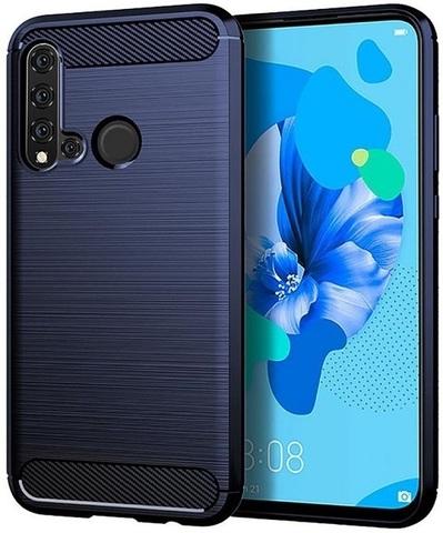 Чехол Carbon для Huawei P20 Lite (2019)/Nova 5i серия Карбон | синий