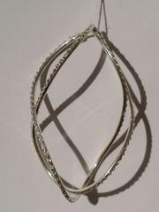 Конго витые с эмалью (серьги из серебра)