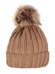 HT1803-4 шапка женская, коричневая