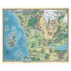 D&D: Sword Coast Adventurer's Guide Faerun Map