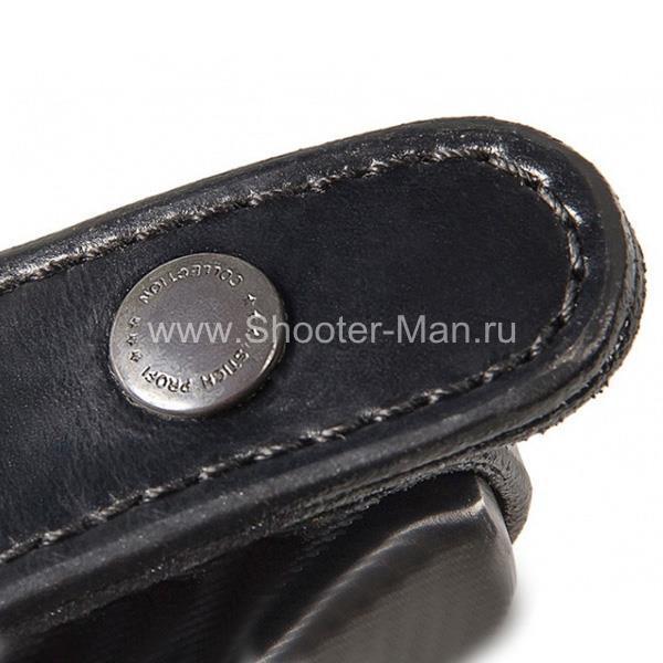 Кобура кожаная поясная для ПСМ ( модель № 6 ) Стич Профи