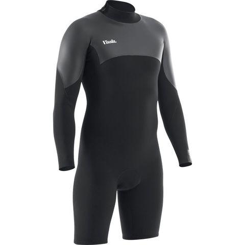 Гидрокостюм короткий мужской VISSLA 7 Seas 2/2 LS Back Zip Spring Suit