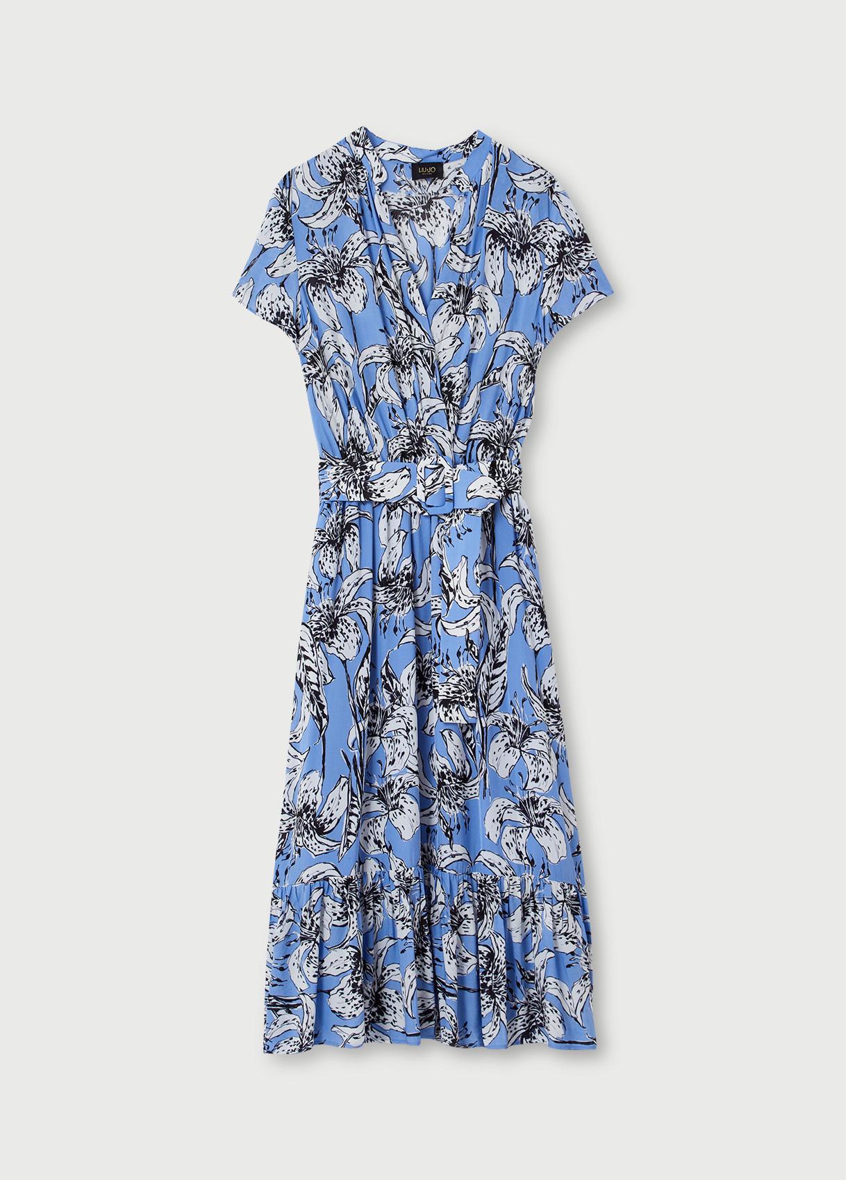 Liu Jo Платье в крупный цветочный принт из вискозы
