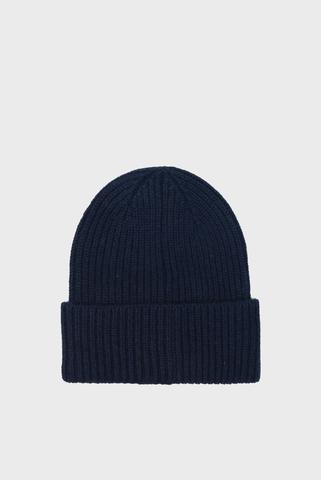 Мужская синяя кашемировая шапка TH Tommy Hilfiger