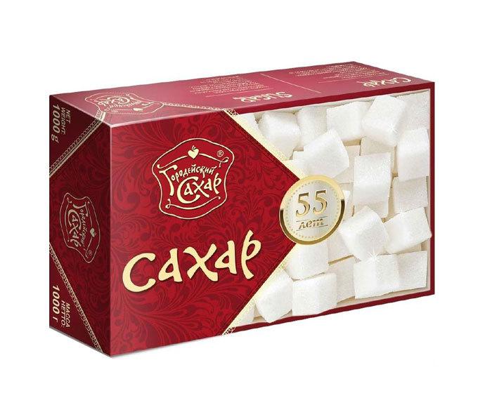 Сахар прессованный Городейский в форме кубиков, 1 кг
