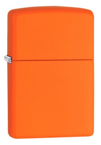 Зажигалка Zippo Classic с покрытием Orange Matte, латунь/сталь, оранжевая, матовая, 36x12x56 мм