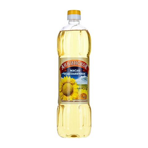 Масло Аннинское подсолнечное рафинированное 0,9л