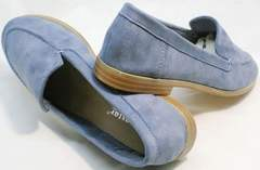 Стильные туфли на низком каблуке женские Seastar T359P Blue.