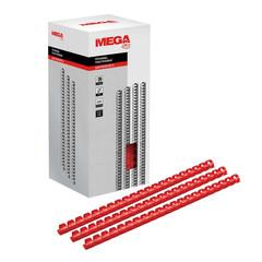 Пружины для переплета пластиковые Promega office 14 мм красные (100 штук в упаковке)