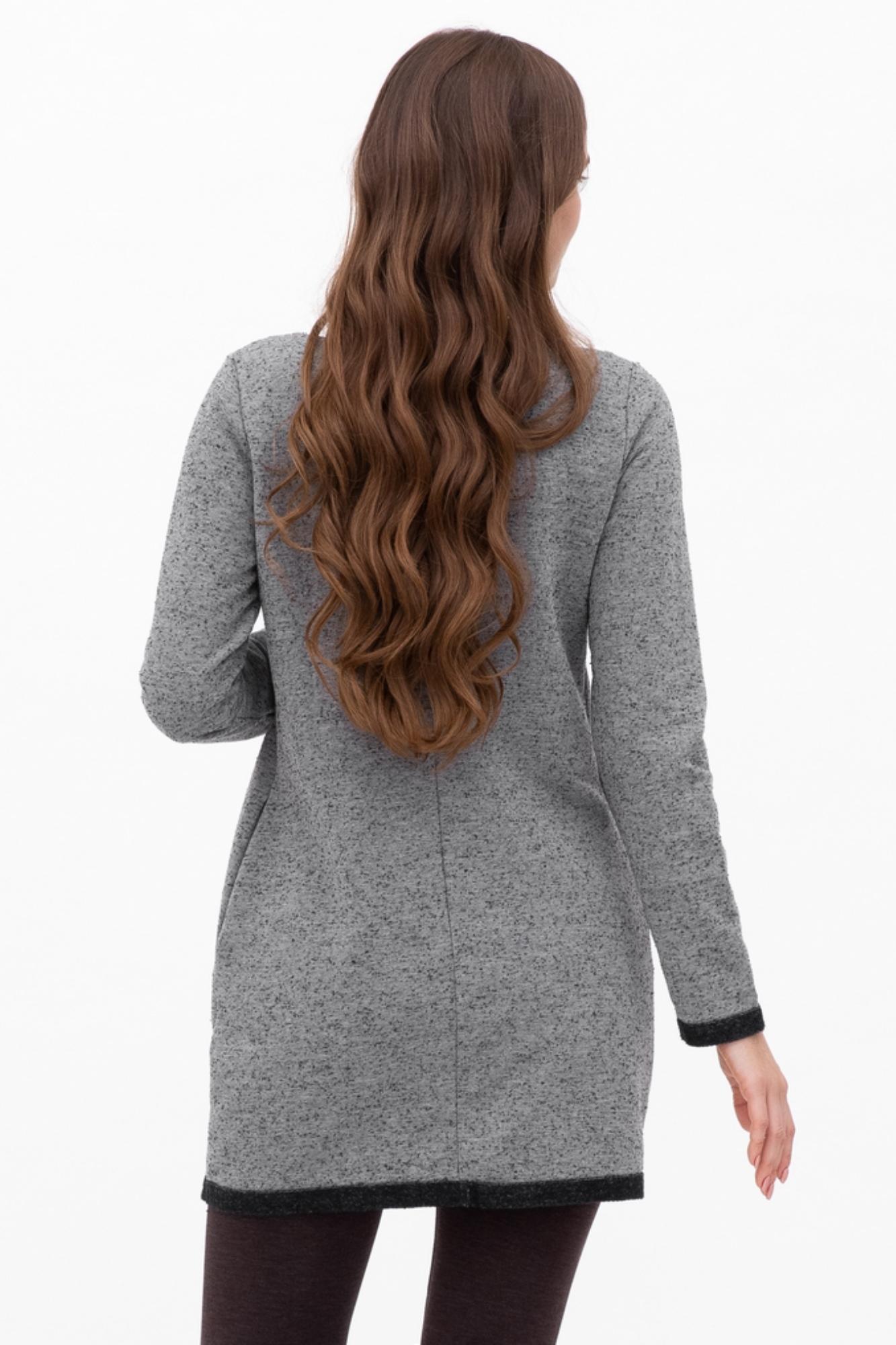 Туника для беременных 07115 серый