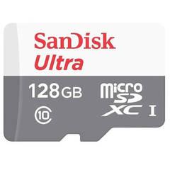Карта памяти MicroSDXC 128GB Sandisk Ultra Class 10 UHS-I 100MB/s (SD adapter)