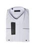 Белая мужская рубашка slim fit с запонками MEGA под бабочку