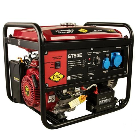 Генератор бензиновый DDE G750E (1ф 7,0/7,5 кВт бак 25 л 92 кг дв-ль 15 л.с элстарт) (917-460)