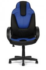 Кресло компьютерное Нео 1 (Neo 1) — черный/синий (36-6/36-39)