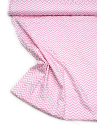 Зигзаг мелкий нежно розовый