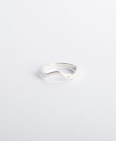 Кольцо Reunion II с малым камнем серебро, искусственный бриллиант