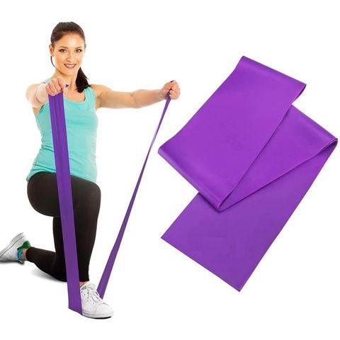 Rezin band \ Жгут спортивный резиновый \ Resistive Exercise Bands purple