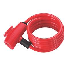 Велозамок BBB QuickSafe 8mm x 1500mm ключевой красный