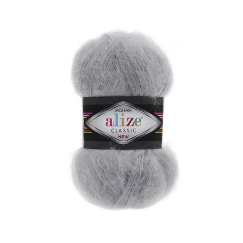 Пряжа Alize Mohair Classic New 21 серый