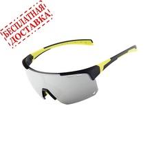Очки солнцезащитные XQ546, (черно-желтые / зеркальные revo) +3 доп. линзы