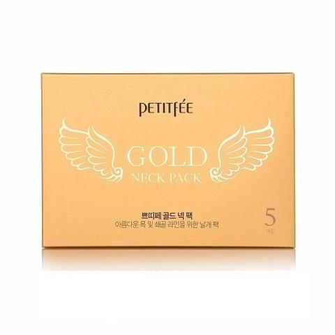 Гидрогелевая маска Petitfee с золотом для шеи 1 шт