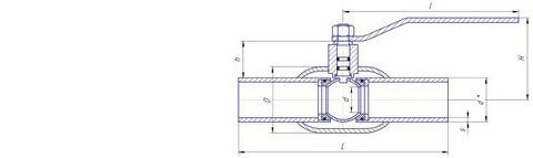 Конструкция LD КШ.Ц.П.500/400.025.Н/П.02 Ду500 стандартный проход с редуктором
