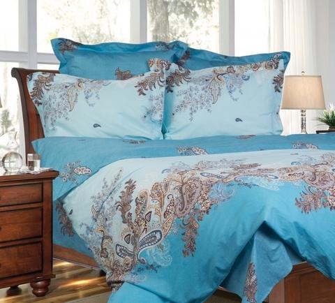 Сатиновое постельное бельё  1,5 спальное Сайлид  В-140