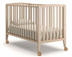 Кровать детская Бьянка на колесиках выбеленный бук